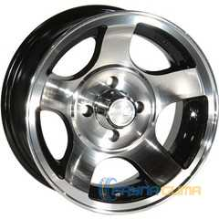 Купить ZW 689 (BP - Черный внутри полированый ) R13 W5.5 PCD4x98 ET0 DIA58.6