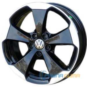 Купить WSP ITALY W465 Laceno Glossy Black Polished R18 W7.5 PCD5x112 ET51 DIA57.1