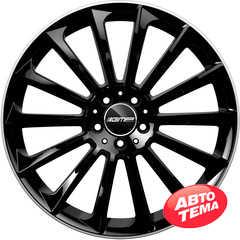 Купить Легковой диск GMP Italia STELLAR Shiny Black Diamond Lip R22 W9 PCD5x108 ET38 DIA63,4