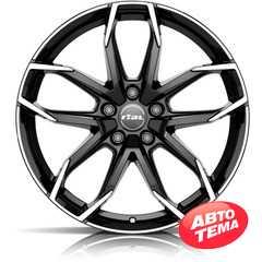 Купить RIAL Lucca Diamond Black Front Polished R18 W8 PCD5x114.3 ET39 DIA70.1