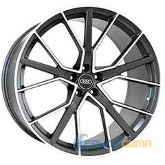 Купить REPLICA FORGED A970 MATTE-GRAPHITE-WITH-MACHINED-FACE FORGED R22 W10 PCD5x112 ET26 DIA66.5