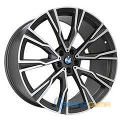 Легковой диск REPLICA B987 MATTE GRAPHITE WITH MATTE POLISHED FORGED -