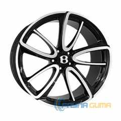 Купить REPLICA FORGED BN1040L GLOSS-BLACK-WITH-MATTE-POLISHED FORGED R21 W9.5 PCD5x112 ET41 DIA57.1