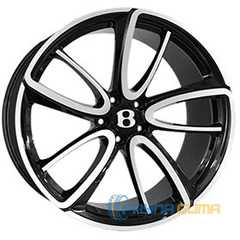 REPLICA FORGED BN1040R GLOSS BLACK WITH MATTE POLISHED FORGED -