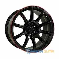 Off Road Wheels OW1012 GLOSSY BLACK RED LINE RIVA RED -