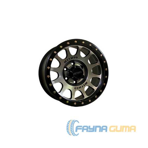 Off Road Wheels OW9095 MATT BLACK MACHINED FACE LI​P MUTT BLACK -