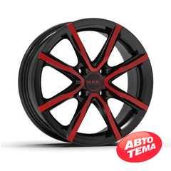 Легковой диск MAK Milano 4 Black and red -