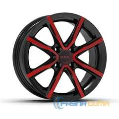 Купить Легковой диск MAK Milano 4 Black and red R16 W6.5 PCD4x98 ET30 DIA58.1