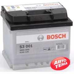 Купить Аккумулятор BOSCH (S3001) 41Ah-12v (207x175x175) R,EN 360