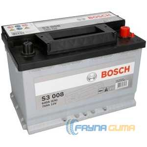 Купить Аккумулятор BOSCH (S3008) 70Ah-12v (278x175x190),R,EN640