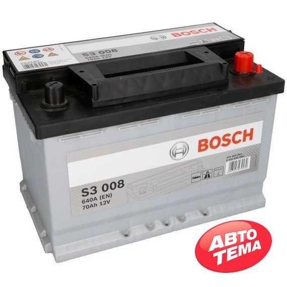 Аккумулятор BOSCH (S3008) 70Ah-12v -