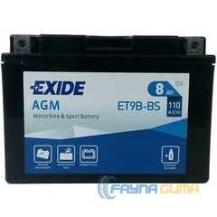 Купить Аккумулятор EXIDE AGM (ET9B-BS) 8Ah-12v (150х70х105) L, EN110